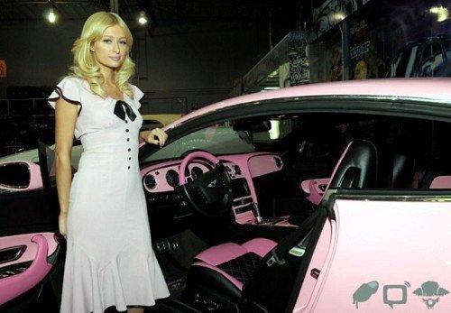 粉色宾利欧陆gt 富家女的奢华圣诞礼物 高清图片