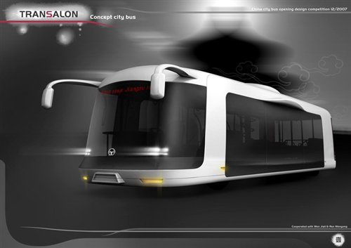 电能动力 新公交车采用大面积玻璃车身高清图片