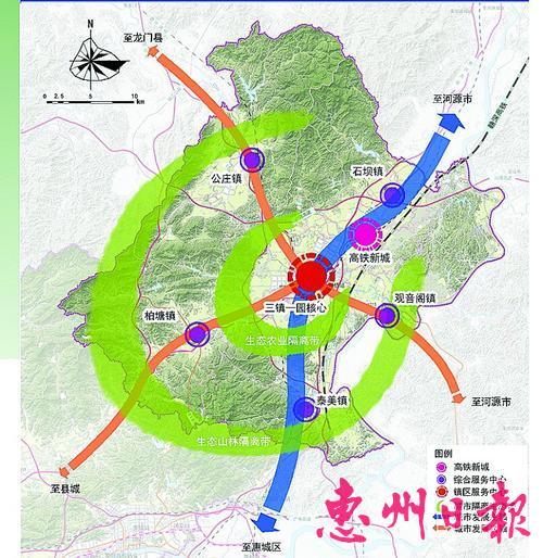 博东八镇未来空间结构图
