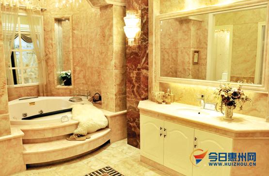 法恩莎欧式奢华仿玉设计浴室