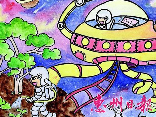 学生们的科幻画很有想象力.