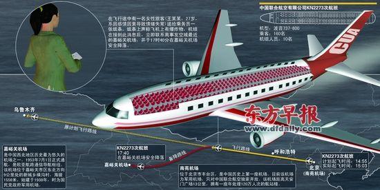 北京至乌鲁木齐航班迫降