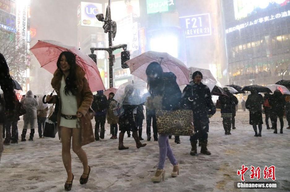 日本东京遭受罕见的大面积暴雪袭击 今日惠州