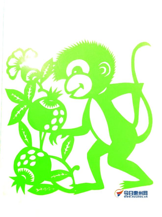 猴子手工粘贴画
