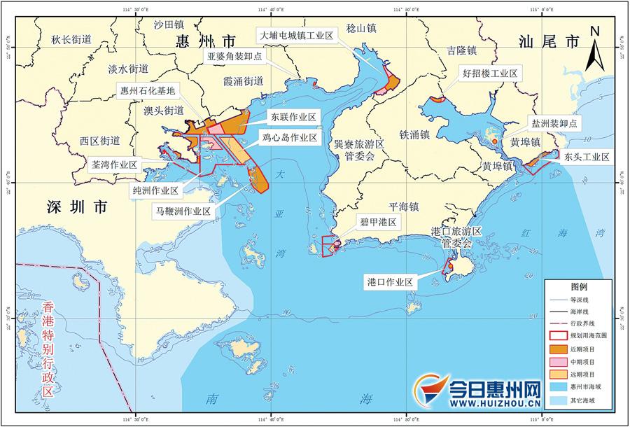 (图片由市海洋与渔业局提供)-环大亚湾新区2017年前拟围填海