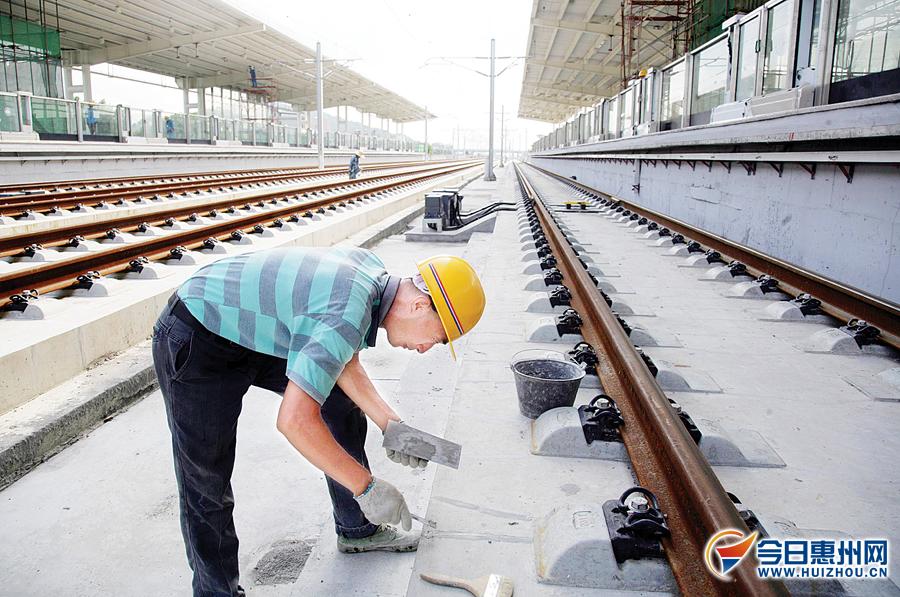 莞惠城轨沥林站的建设进入尾声。 《东江时报》记者 ...
