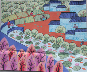 学 谢欣怡 《幸福家园》-美丽惠州少儿绘画大赛第二批作品展示