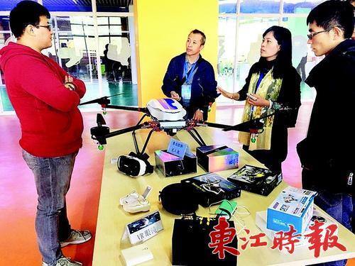 无人机、VR眼镜等多项台湾青年科创成果将亮相台博会。 《东江时报》记者记者范文燕 通讯员王玉雯 摄