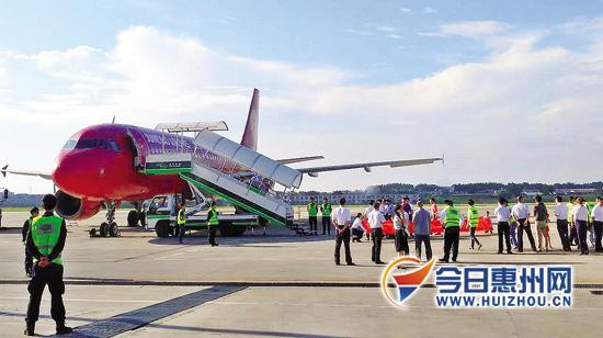惠州机场首迎过夜飞机 昨日8时50分飞往贵阳