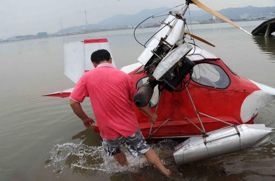 广州外来工耗时三年造水上飞机