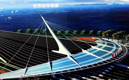 世界最长跨海大桥珠港澳大桥效果图