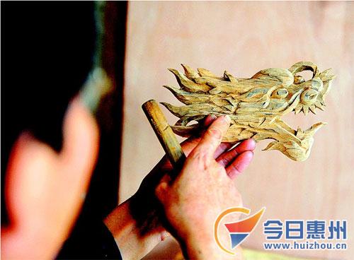 惠州木雕唐师傅作品