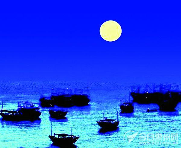 情侣海边品茶风景