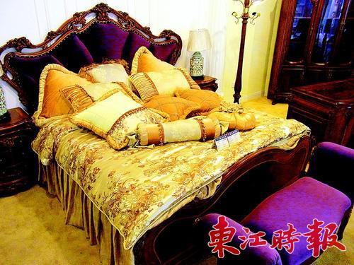 豪华欧式紫色床