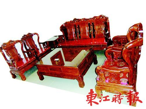 中式风格红木沙发