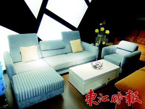 沙发面料是优质的绒布