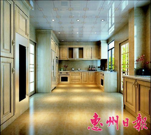 此别墅厨房设计为典型的欧式风格