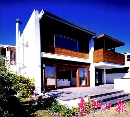 l型中式别墅外观