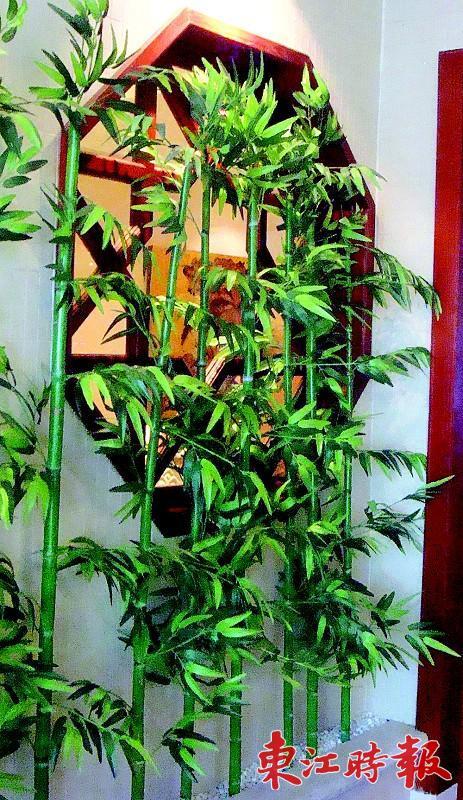 墙面木板仿真植物