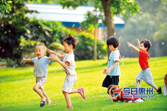 东江沙公园玩耍