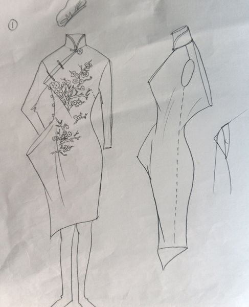 铅笔画旗袍的步骤