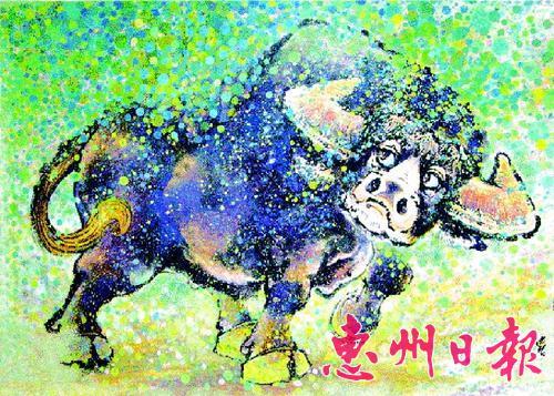 牛水墨画-牛 国画